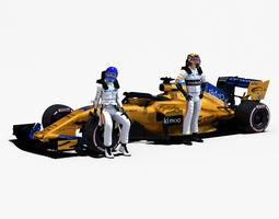 3D asset McLaren MCL33