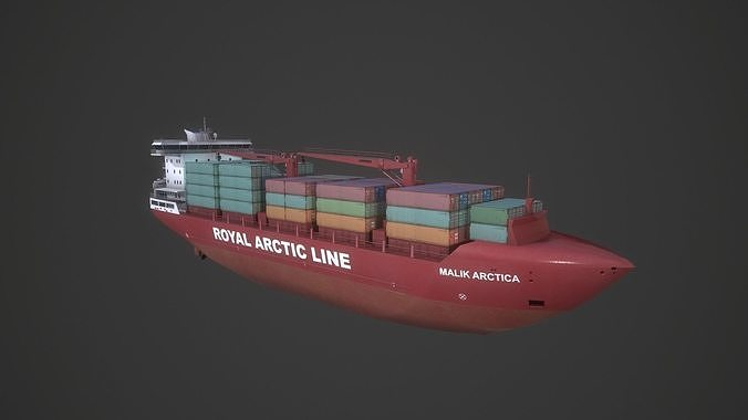 container ship mary arctica 3d model low-poly obj mtl fbx blend unitypackage prefab 1