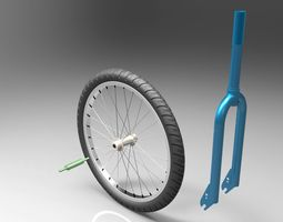 3d bicycle fork
