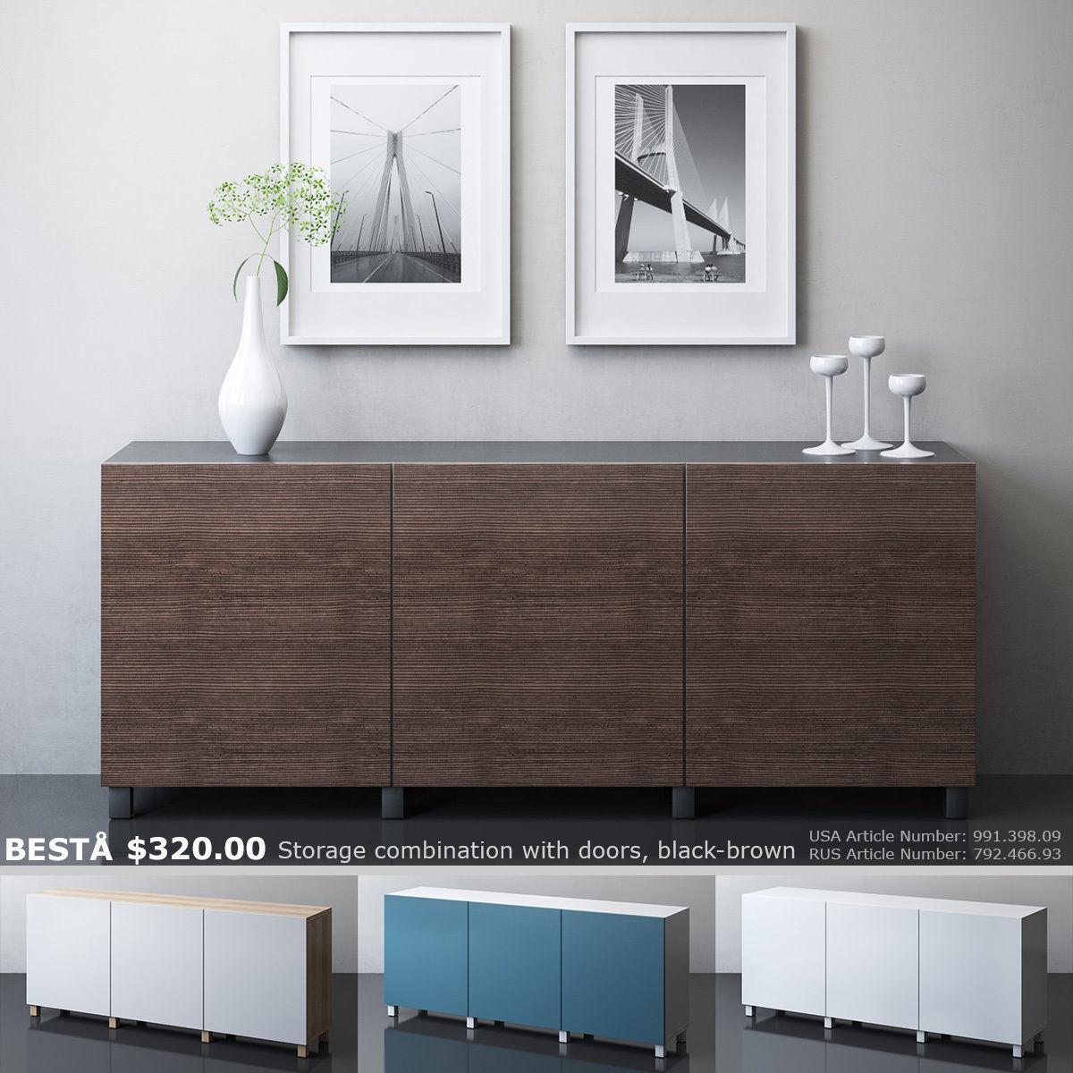 BESTA Storage combination with doors collection