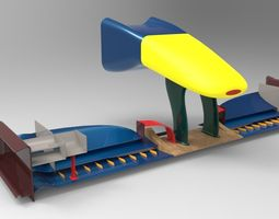 3d model f1 front wing