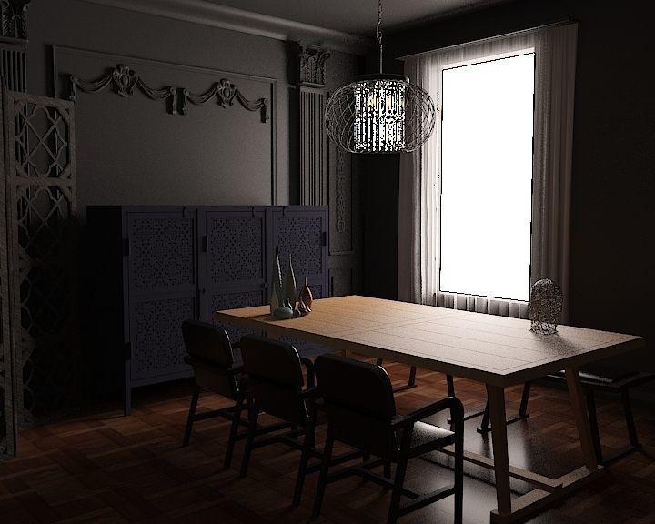 dining table ghadiri 2   3D model