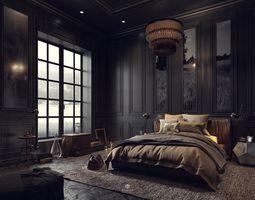 Bedroom with Modern Details 3 3D model interior