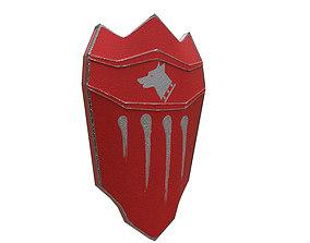 3D asset realtime Medieval Shield helm