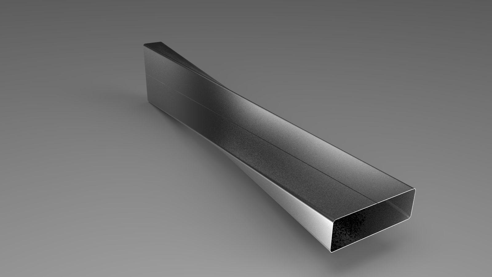 Twist Ducting Sheet Metal Free 3d Model Sldprt Sldasm