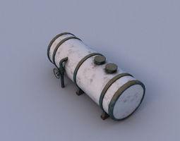 3D model low-poly Water tank