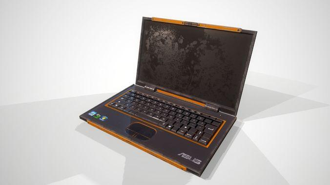 notebook 3d model low-poly obj mtl fbx ma mb dae 1