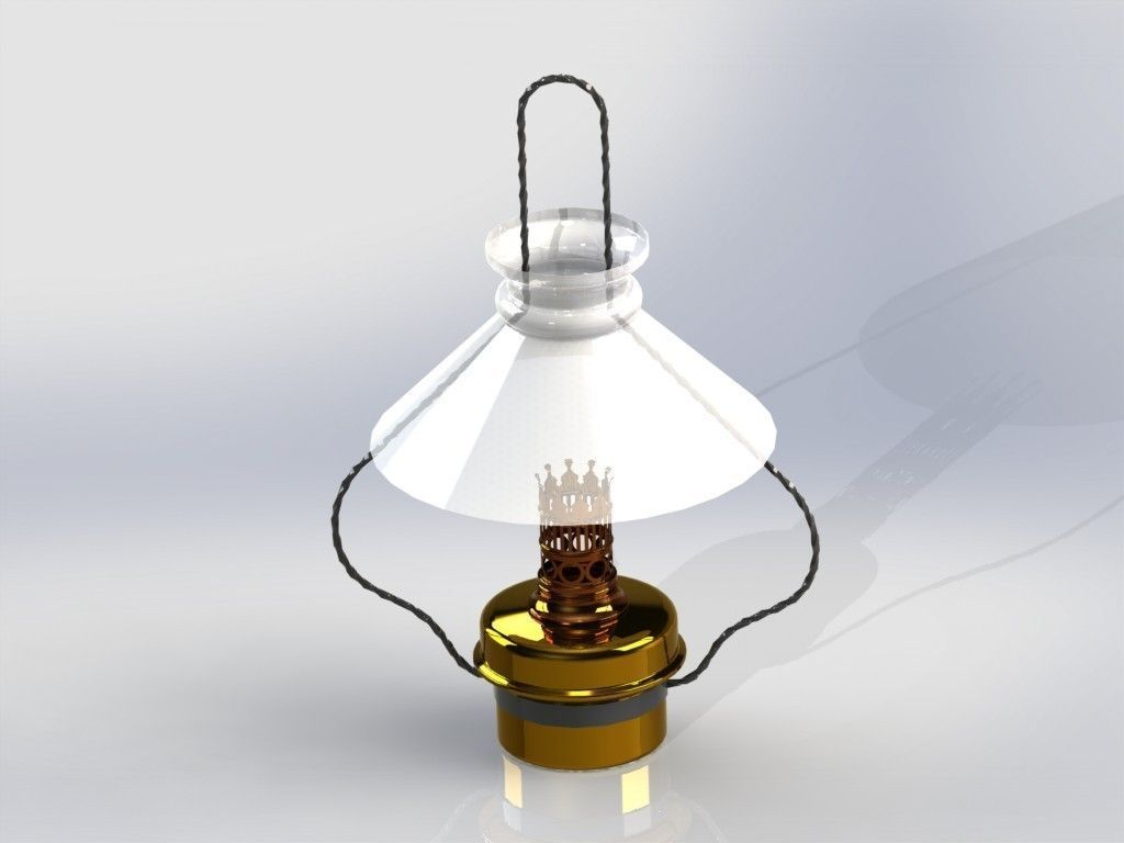 Kitchen Hanging Lamp Free 3D Model STL SLDPRT SLDASM