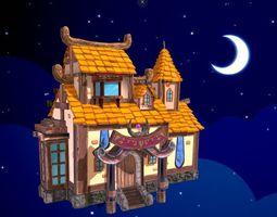 3D asset Cartoon village house
