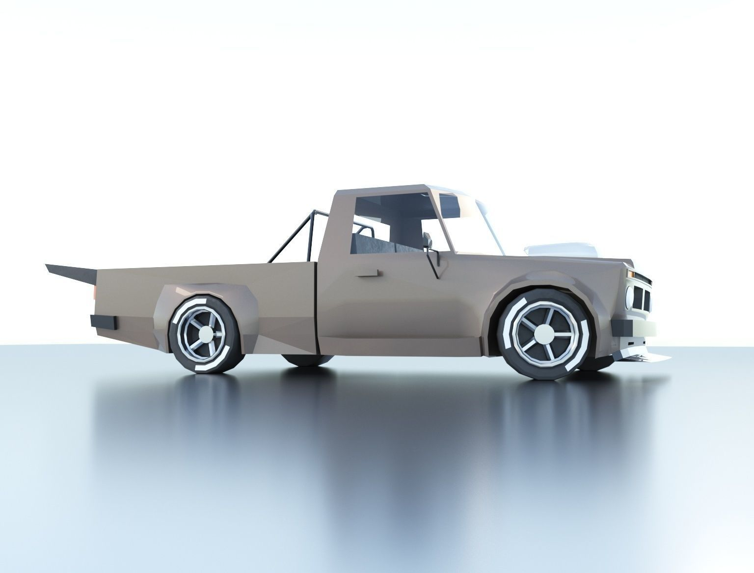 Low Poly Pickup Muscle Car 3d Model Low Poly Cgtrader