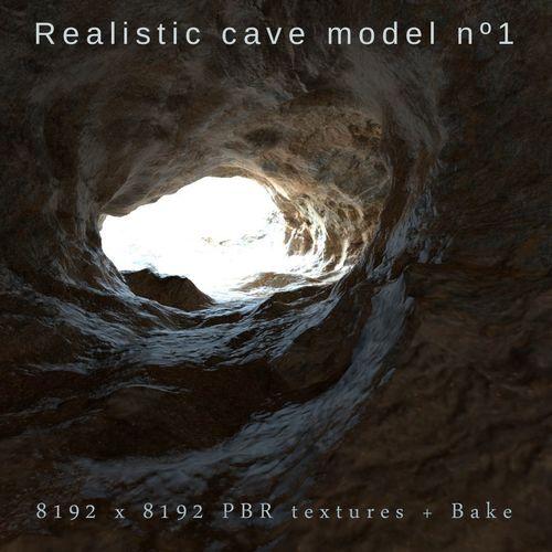 realistic cave  model 1 3d model max fbx blend 1