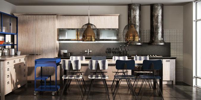 3D Scavolini diesel social kitchen type 002 | CGTrader