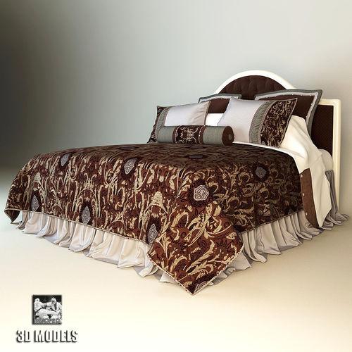 savio firmino bed eastern textil 3d model max obj mtl fbx 1