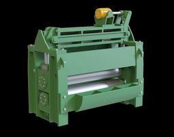 Metall rolling machine 3D asset low-poly