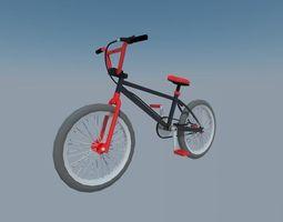 3D model black bmx