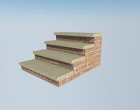 brick steps 3D asset