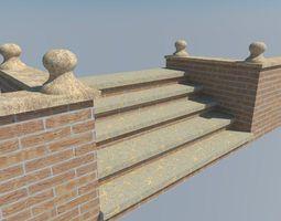 brickwall steps 3D model