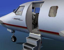 beechcraft starship 2000 t01 3d animated