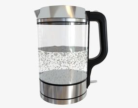 Glass Kettle kitchenware 3D