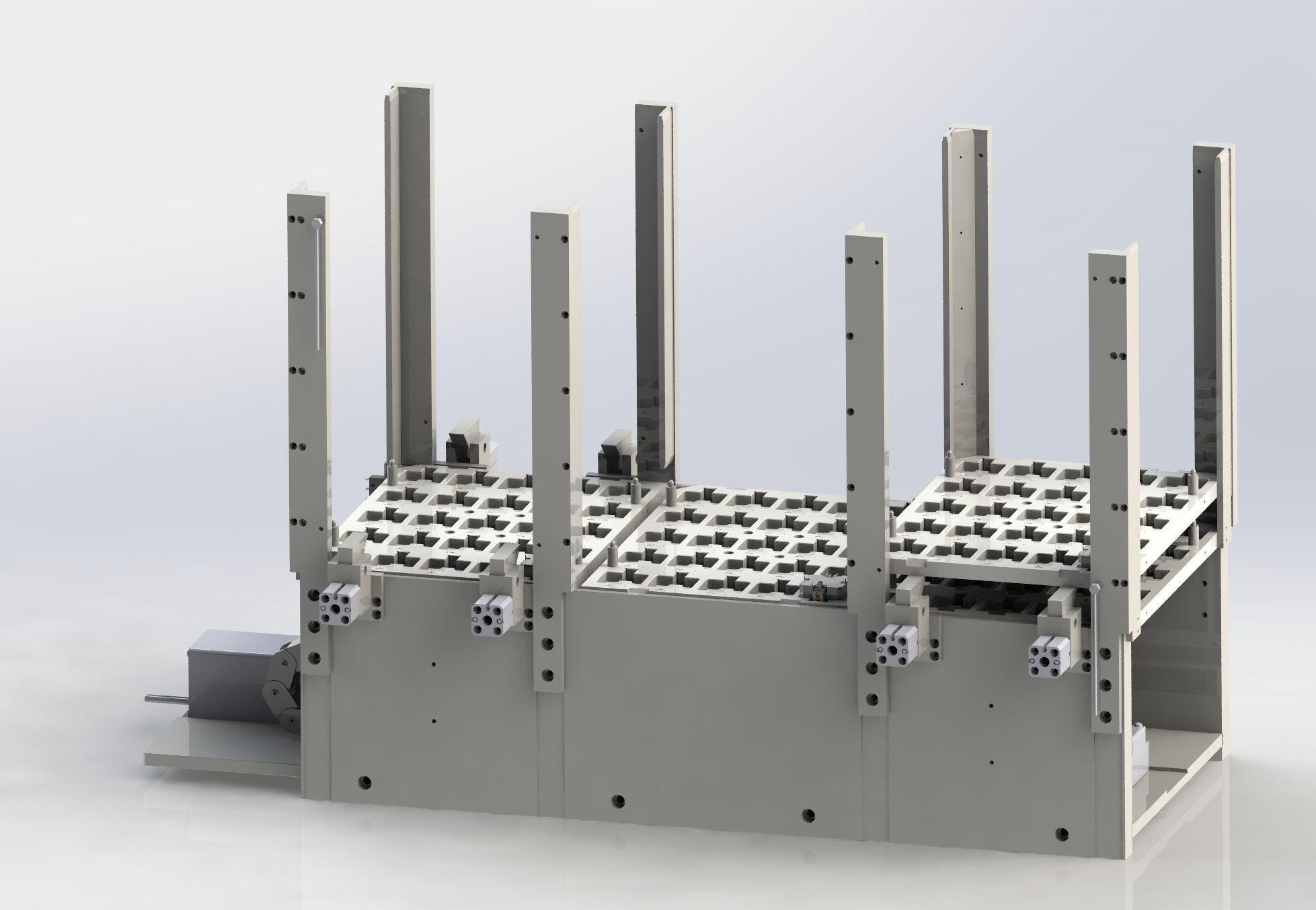 Automatic tray stacking feeding machine
