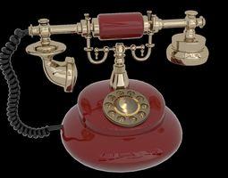 antique 3D model Vintage telephone