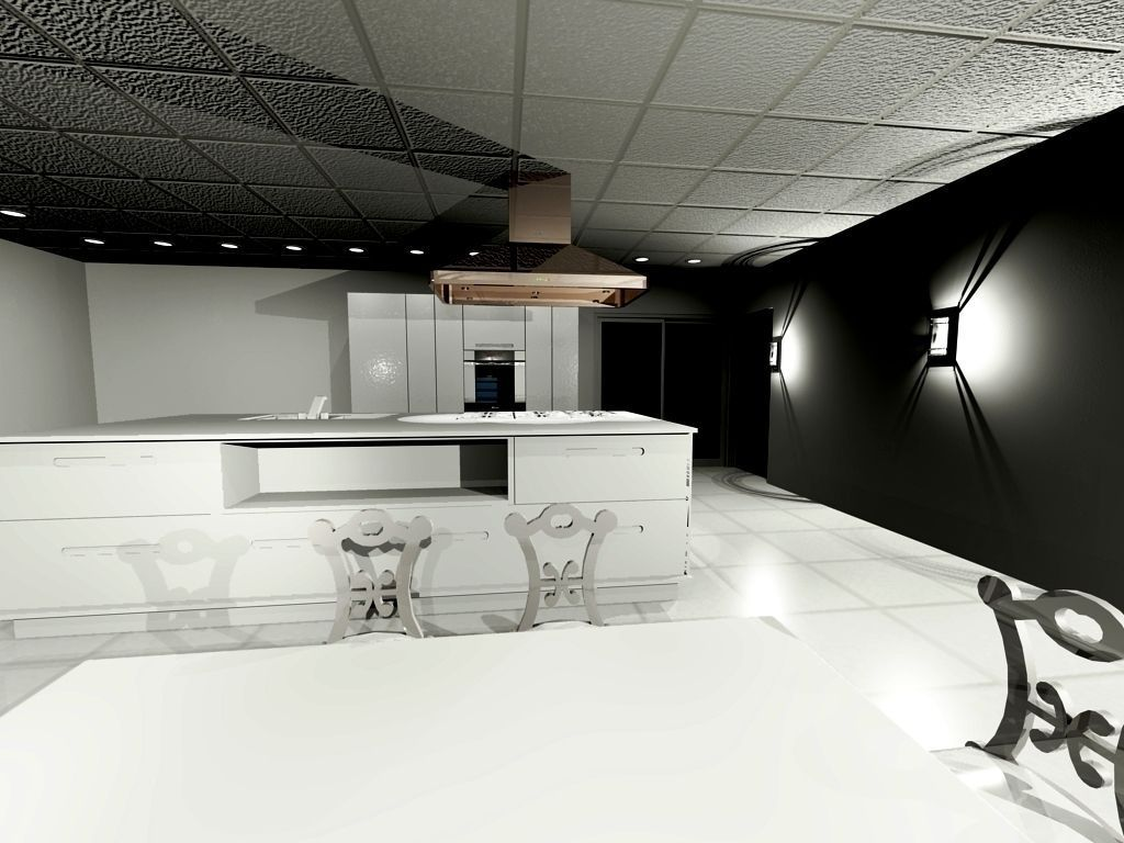 Kitchen Interior 3d Model Cgtrader