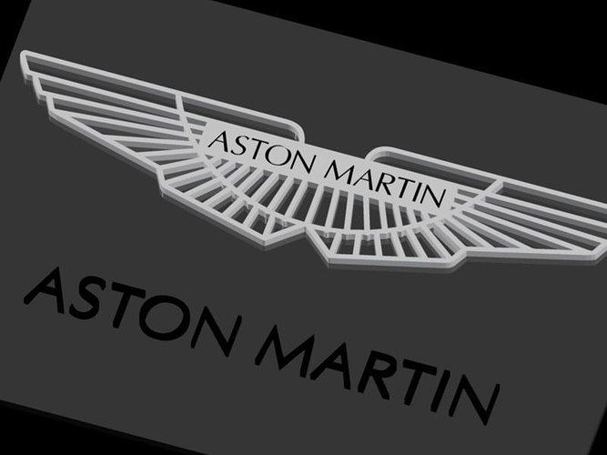 aston martin logo black. aston martin logo 3d model dwg 5 black