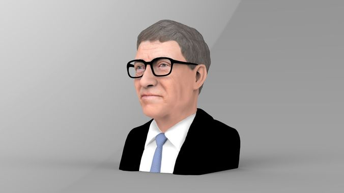 bill-gates-bust-ready-for-full-color-3d-