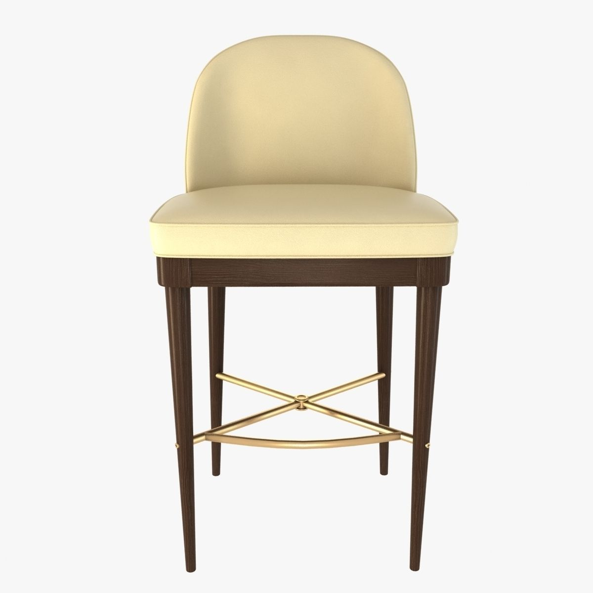 Laurent bar stool by hickory chair furniture 3d model max for Model furniture
