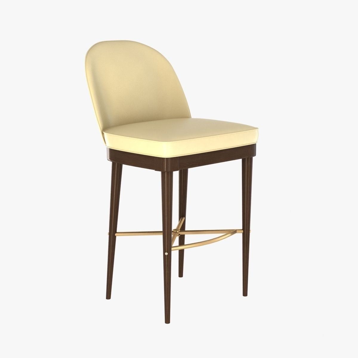Laurent Bar Stool By Hickory Chair Furniture 3d Model Max Bip Obj
