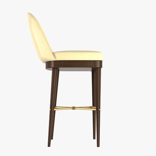 Laurent Bar Stool By Hickory Chair Furniture 3d Model Max