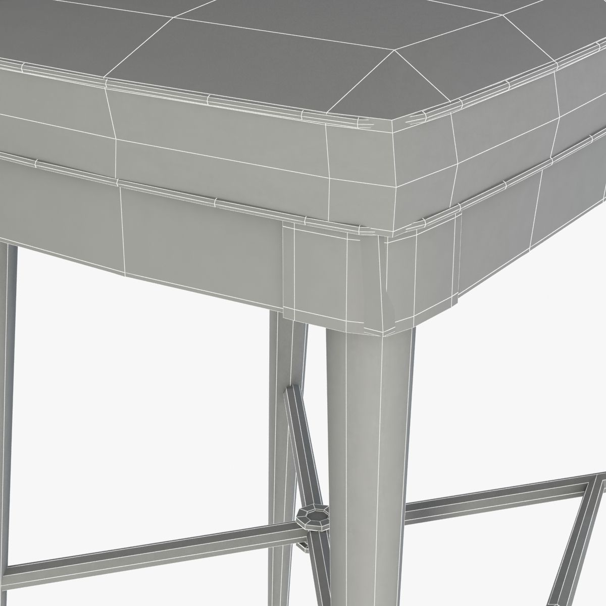 Laurent Bar Stool By Hickory Chair Furniture 3D model MAX OBJ 3DS