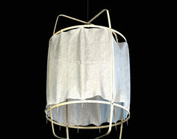 ay illuminate z1 black cloth ceiling lamp 3d