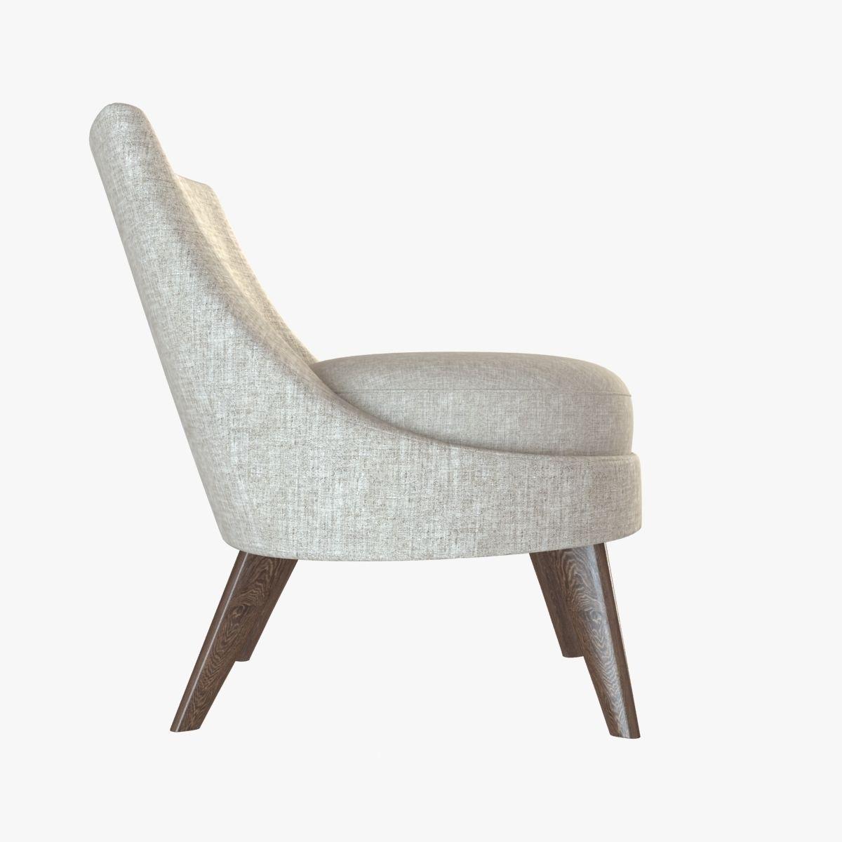 ... Pimlico Lounge Chair 3d Model Max Obj 3ds Fbx Mtl 7 ...