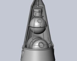 Sputnik 2 Laika Capsule Cutaway And Assembly Printable