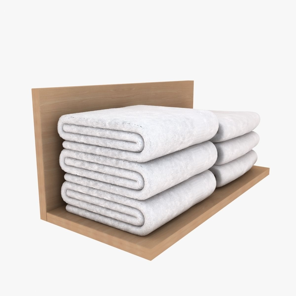 White folded towels 3d model max obj 3ds fbx for How to get towels white