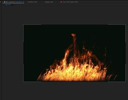 FumeFX Large Scale Fire 3D asset animated