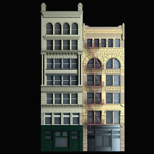 Building facade 3d model max obj fbx mtl Building facade pictures