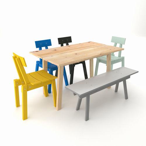 Industriell Ikea Table Bench Chair 2018 Model Max Fbx Mat 1