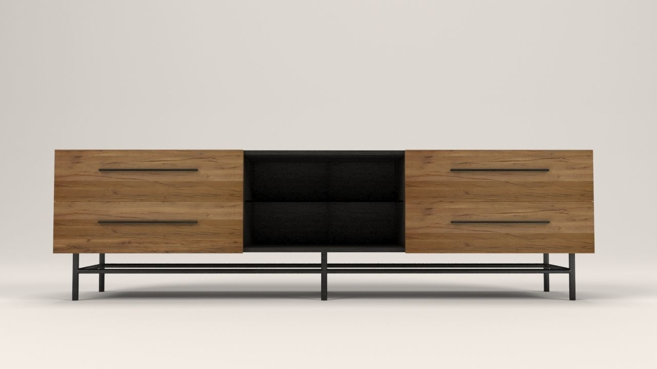 Arimo Tv Cabinet With Drawers Model Low Poly Max Obj Mtl S Fbx Dxf