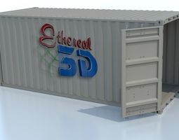 industrial shipping container animated 3d
