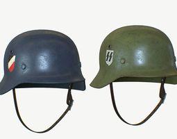 Nazi Helmet 3 in 1 3D asset