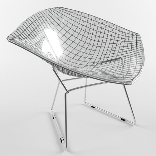 3D model Diamond Chair Harry Bertoia Knoll Studio VR / AR / low-poly ...