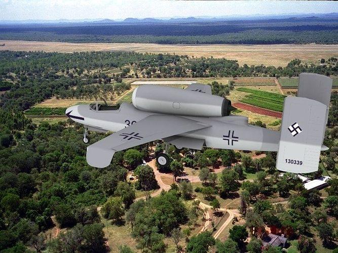 heinkel he 162 volksjaeger v04 3d model rigged max obj 3ds lwo lw lws dxf 3dm 1