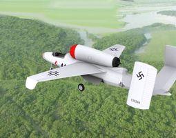 3D Heinkel He 162 Volksjaeger V05