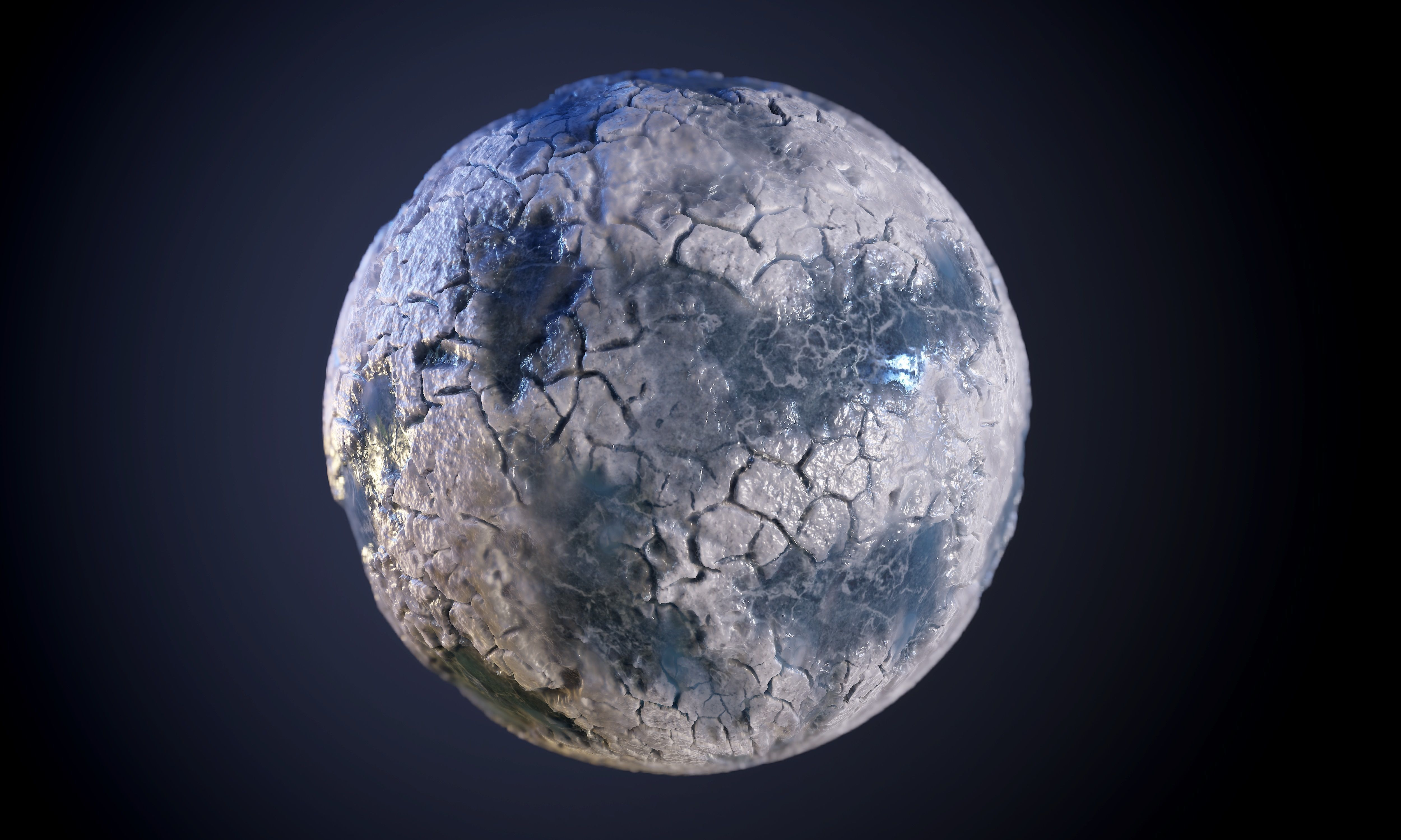 Glacier Ice Seamless PBR Texture