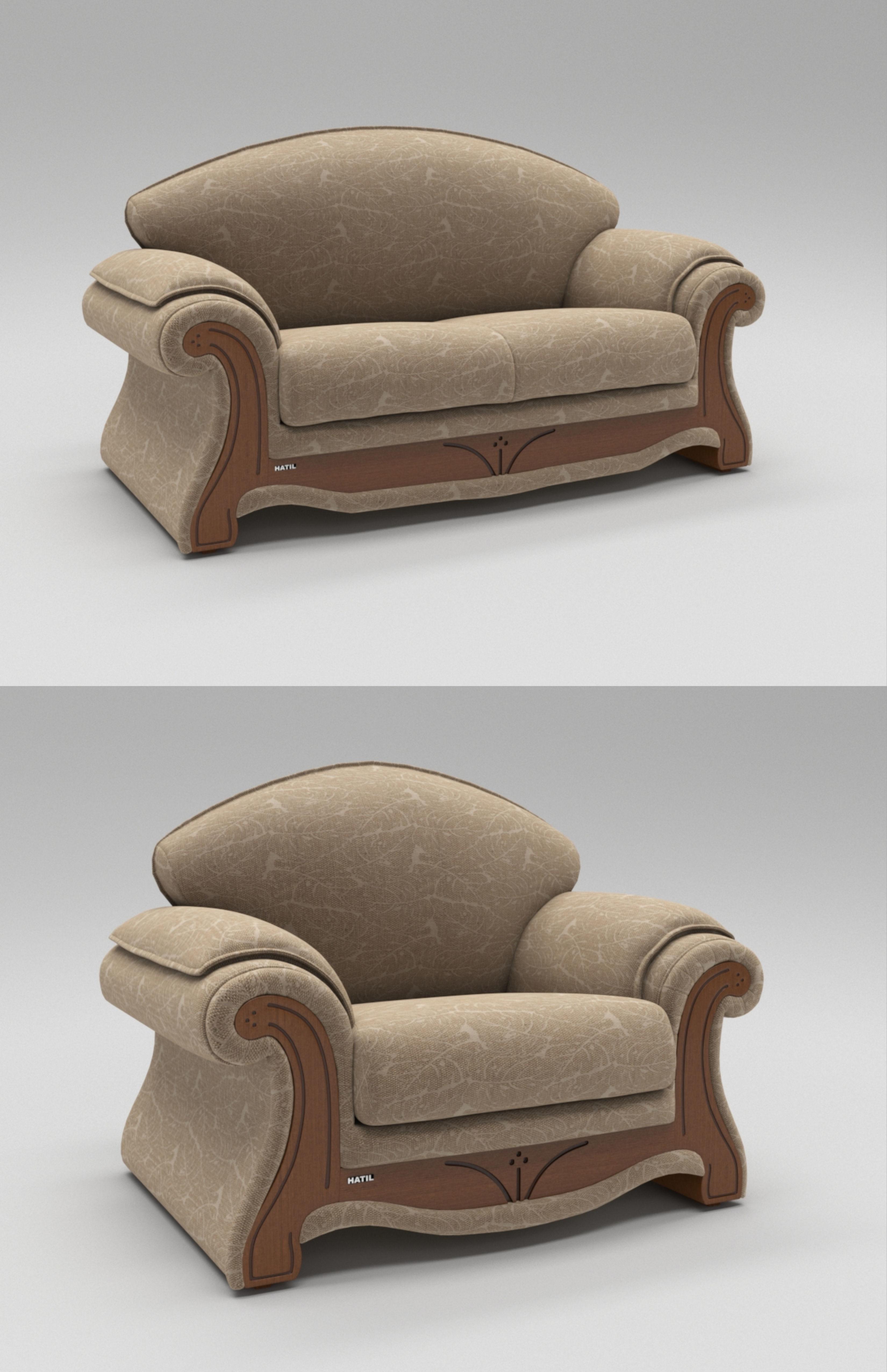 3D Model Simpleton Sofa