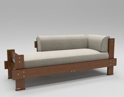 Modern divan sofa 3D model