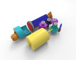 AEP gearbox display 3D model