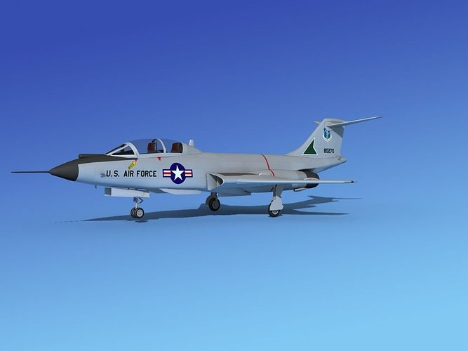 mcdonnell f-101b voodoo v05 3d model max obj 3ds lwo lw lws dxf stl 1
